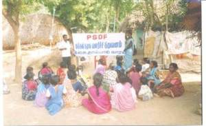 PSDF conducts awareness programs and group counseling in the 47 villages that it works in, as well as providing microloans.