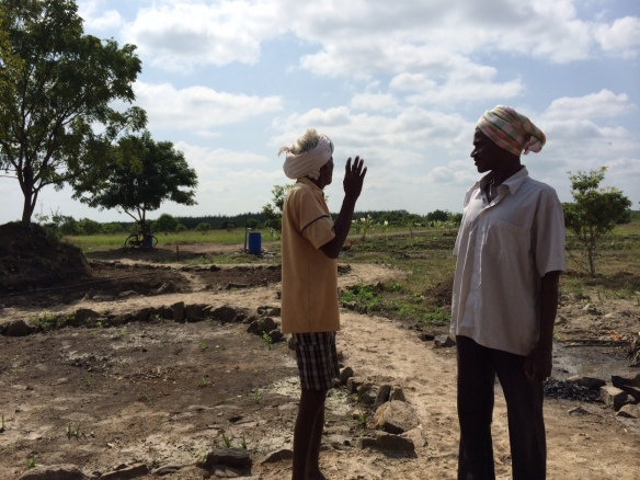 .Two members of Sirsti Village at the field, Sirsti village land in Tamil Nadu, 30 km west of Pondicherry .