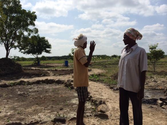 .Two members of Sirsti Village at the field, Sirsti village land in Tamil Nadu, 30 km west of Pondicherry .